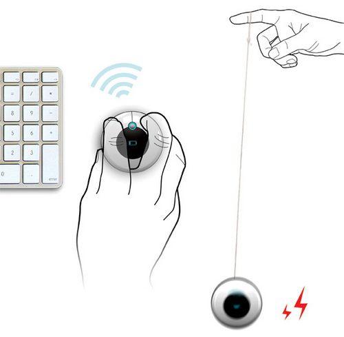 Мобильная новость: Мобильная новость: Китаец придумал мышь с подзарядкой по принципу йо-йо