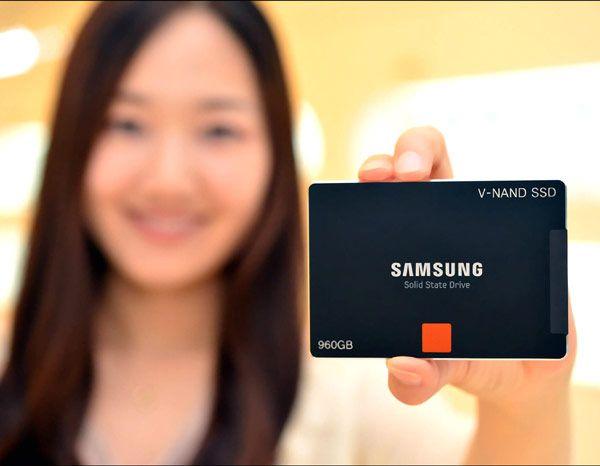 Твердотельные накопители Samsung V-NAND SSD выпускаются объемом 960 и 480 ГБ