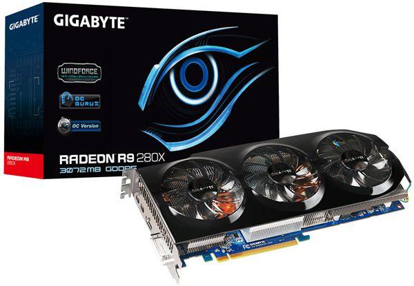 Gigabyte выпускает разогнанные 3D-карты Radeon R9 280X и R9 270X Overclock Edition