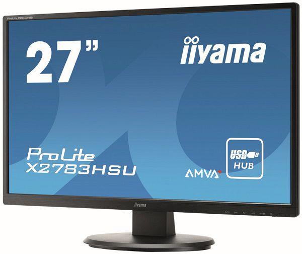 Новые мониторы iiyama ProLite (X24/2783HSU и XB24/2783HSU) оснащены портами DVI, VGA, HDMI, а также двумя портами USB 2.0