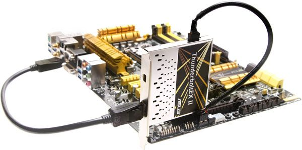 Для карты расширения Thunderbolt необходим свободный слот PCIe, разъем GPIO и выход DisplayPort