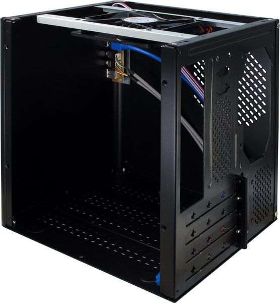 Размеры корпуса Inter-Tech ITX E-D5 Black равны 285 x 222 x 270 мм