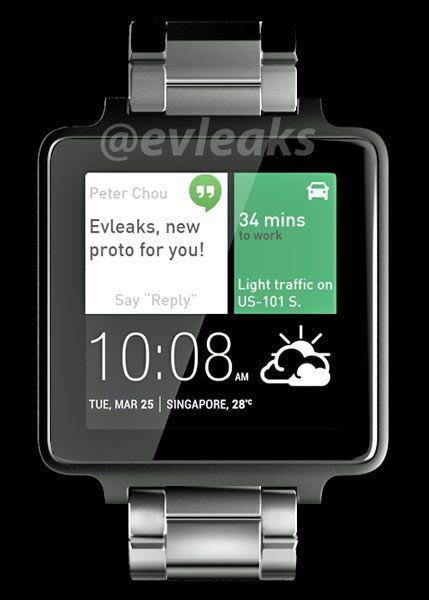 Дата выхода умных часов HTC на платформе Android Wear пока неизвестна