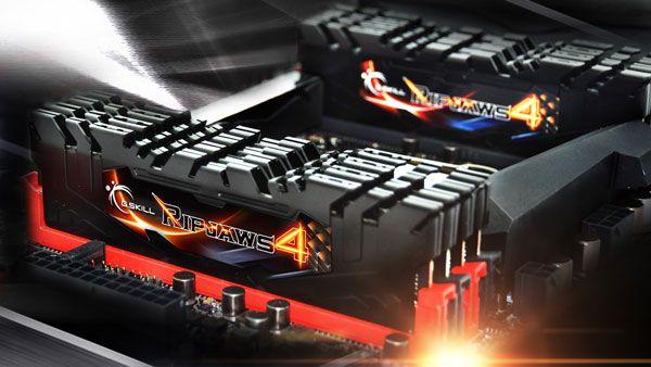 В набор G.Skill Ripjaws 4 DDR4-2800 суммарным объемом 128 ГБ входит восемь модулей памяти
