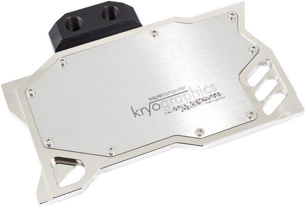 Наиболее доступный вариант водоблока AquaComputer kryographics стоит примерно 95 евро