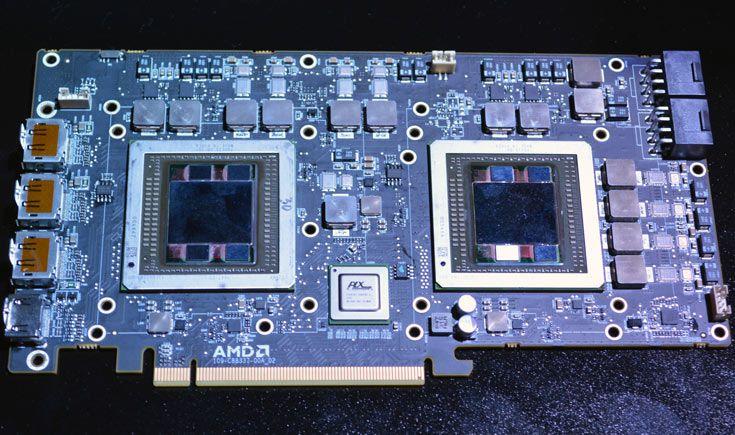 По предварительным данным, GPU AMD R9 Fury X2 будут работать на частоте до 1 ГГц