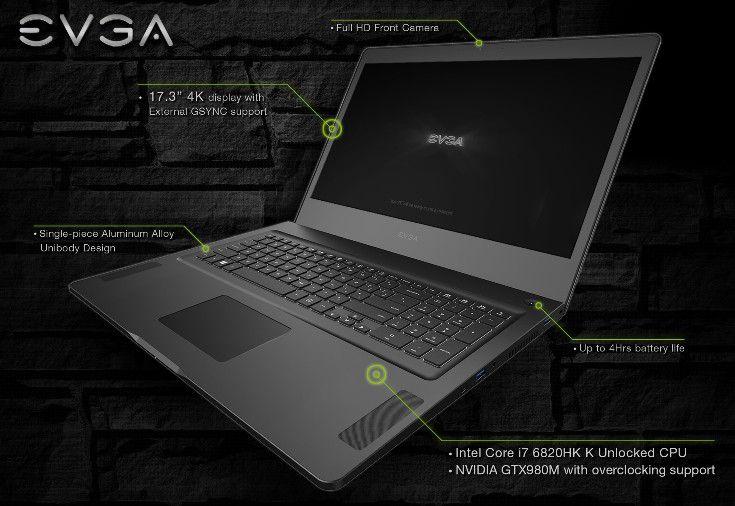 Ноутбук EVGA SC17 получил GPU GeForce GTX 980M