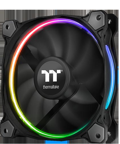 Устройства Thermaltake Riing LED RGB Radiator Fan TT Premium Edition имеют функциональную подсветку