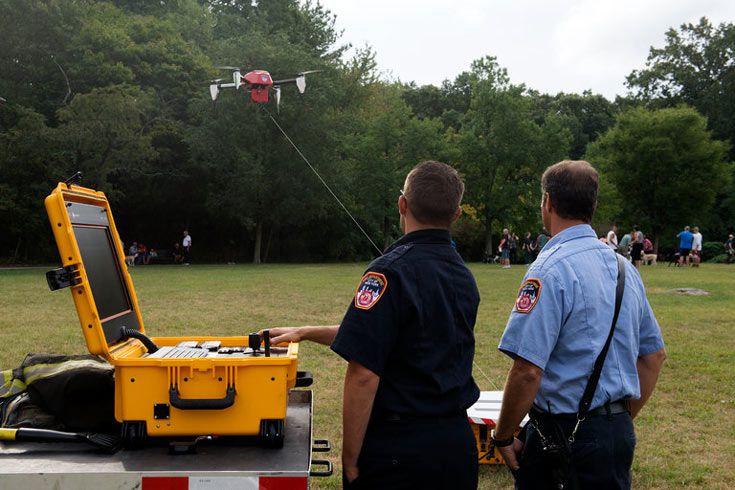 Беспилотные летательные аппараты помогут пожарным лучше оценивать обстановку
