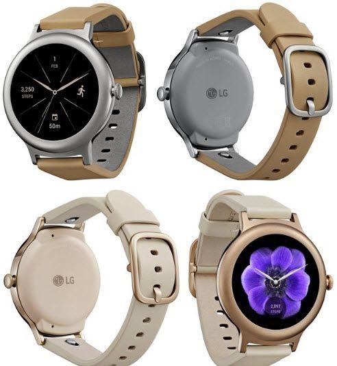 Опубликованы изображения умных часов LG Watch Style в цветах Silver и Rose Gold