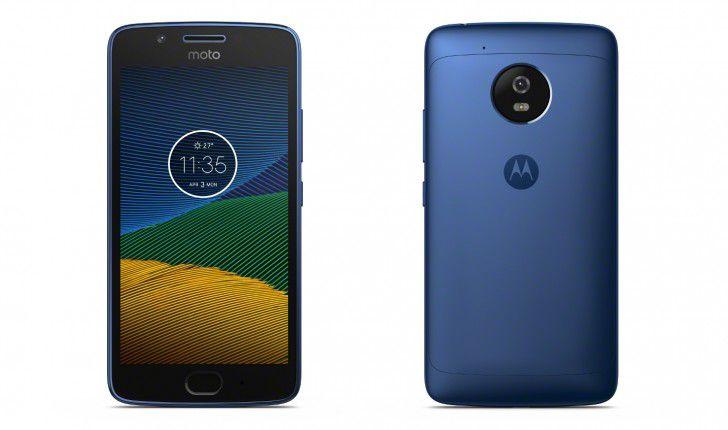 Смартфон Moto G5 в цвете Blue Sapphire предстал на первых фотографиях
